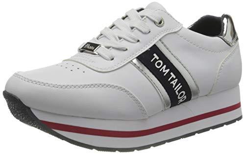 TOM TAILOR Damen 1195505 Sneaker, White, 39 EU