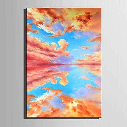 JINTAIYANG Peinture à l'huile 100% Peint à La Main Peinture à l'huile Paysage Toile Art Wall Salon Chambre Décorations pour La Maison