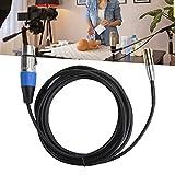 ROMACK Cable de micrófono, Cable de Audio Mini XLR de 3 Pines Sonido de Alta fidelidad para cámaras Cámaras SLR Equipos de fotografía Profesional y micrófonos(1 Meter)