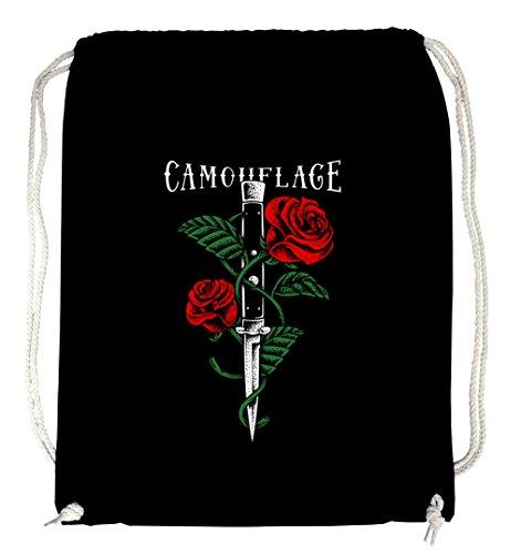 Certified Freak Knife Roses Gymsack Black