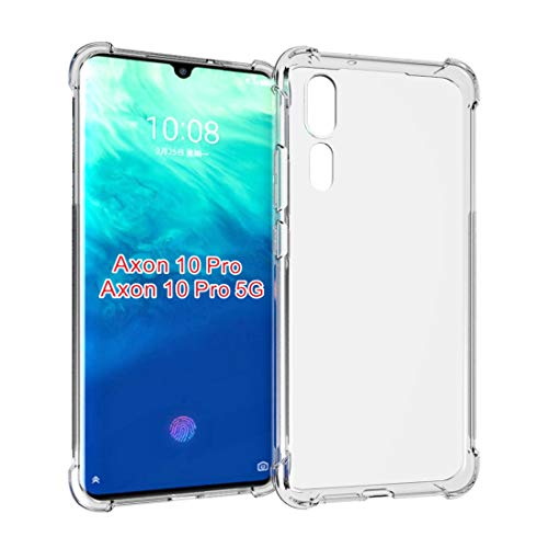 Feitenn Axon 10 Pro Case, ZTE Axon 10 Pro Clear Case, Crystal Flexible TPU Game Case Ultra Hybrid Slim Cover Lightweight Shockproof Bumper with Reinforced Corner Shell for ZTE Axon 10 Pro