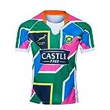 DDsports Équipe Afrique du Sud, Springboks, 7s, Édition Away, 2020, Maillot De Rugby, Nouveau Tissé Brodé, Swag Sportswear (2XL)