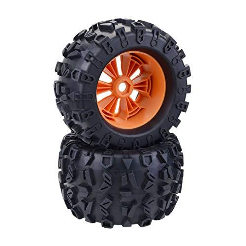 Ruedas y neumáticos MXECO 1/8 Monster Truck para Redcat Rovan HPI Savage XL MONTADO GT Flux HSP ZD Racing 1/8 Monster Truck (Naranja)