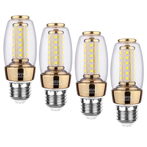 Preisvergleich Produktbild YIIZON E27 LED Glühbirnen,  9W 900LM 6000K Kaltweiß LED statt 80W Glühlampe,  E27 Mais Lampen Birnen Maiskolben Leuchtmittel Kleine Kerze Licht,  4er Pack