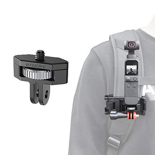 Linghuang 360° Adattatore di Montaggio Regolabile 1/4 Vite Treppiede Base per DJI Osmo Pocket 2 / Insta360 One X2 / X Action Camera Accessori
