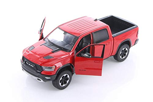 Showcasts 2019 Dodge Ram 1500 Crew Cab Rebel Pickup Truck, Red 79358/16D - 1/24 Scale Diecast Model Toy Car