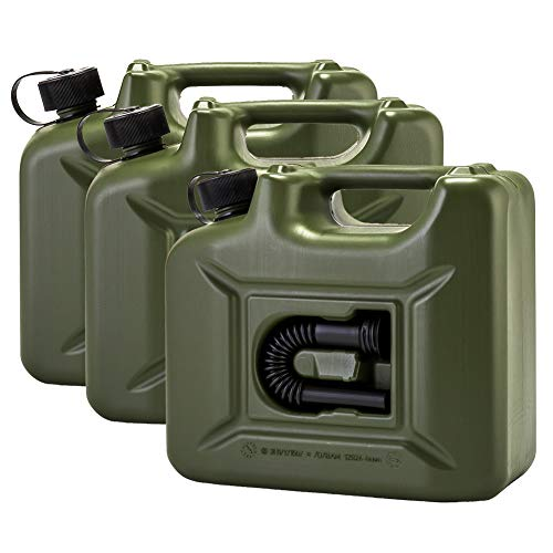 [ ヒューナースドルフ ] Hunersdorff 燃料タンク ポリタンク フューエルカンプロ 10L 3個セット ウォータータンク 801000 オリーブ 燃料 灯油 タンク キャニスター キャンプ [並行輸入品]