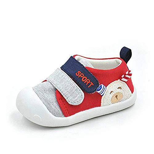 MK MATT KEELY Chaussures Premiers Pas bébé Fille Baskets Bébé Garcon,Rouge 1,20.5 EU(Taille fabricant 17)