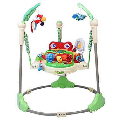 BelleLotus Baby Jumping Center, Baby Walker con Luces, Sonidos Y Música, Asiento Giratorio 360, Estimula Los Sentidos