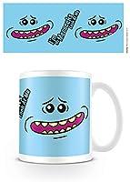 Rick y Morty Señor Meeseeks Cara Taza de café, cerámica, Multicolor, 7,9x 11x 9,3cm