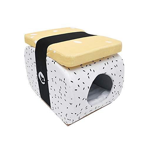 ZWW Kat Grot, Halfgesloten Japanse Sushi Stijl Kat Huis Villa Vier Seizoenen Universele Grote Capaciteit Nest met Matras