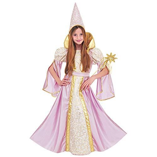 Widmann 37096 - Kinderkostüm Fee, Kleid und Hut, farbig Sortiert, Größe 128