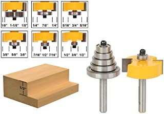 Yonico 14705q 1/2-Inch Height with 6 Bearings Rabbet Router Bit & Bearing Set 1/4-Inch Shank