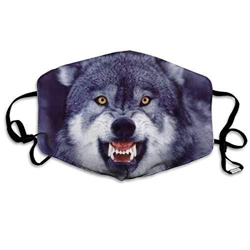 Multifunktionale Gesichtsschutzhülle,Grauer Lustiger Wolf Kunst Gedruckt Unisex Waschbar Wiederverwendbare Gesichtsdekorationen Für Den Persönlichen Schutz