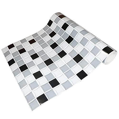Amuzocity Autoadhesivo Mosaico de Papel Adhesivo de Pared de Azulejos de Cocina Baño de La Cocina - h, Individual