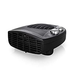Orbegozo FH-5028 Calefactor eléctrico con termostato Ajustable, 2000 W de Potencia, 2 Posiciones de Calor y función Ventilador, Negro