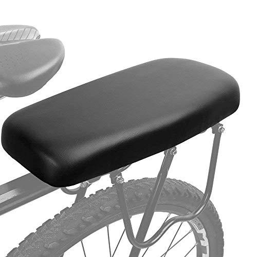 Cojín trasero ASEOK para bicicleta, cojín trasero para bicicleta de montaña asiento trasero para vehículo eléctrico. Asiento trasero para niños (negro)