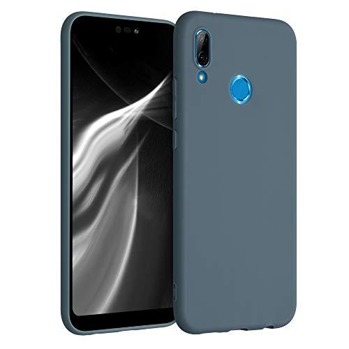 kwmobile Funda Compatible con Huawei P20 Lite - Funda Carcasa de TPU Silicona - Protector Trasero en Gris Pizarra