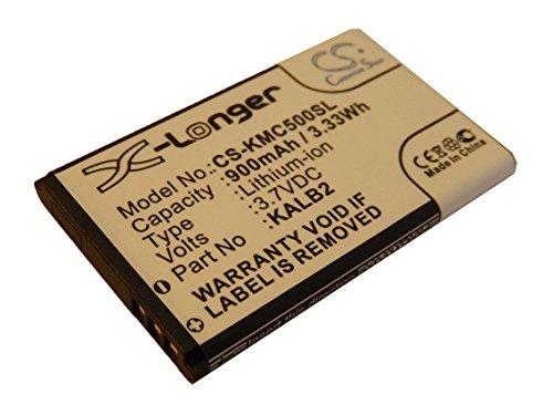 vhbw Batería Recargable reemplaza KAC5, KAC5-HELBE0003594, KALB2, KALB2-MXDB01351 para móvil, Smartphone (900 mAh, 3,7 V, Li-Ion)