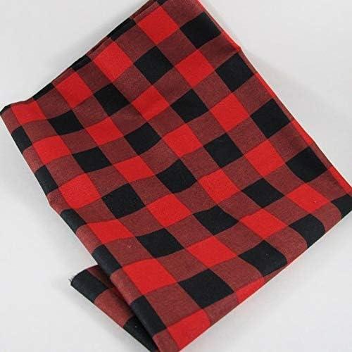 Save money Fat Quarter Max 45% OFF - Red Black Plaid Fabric 100% Check Buffalo Cotton
