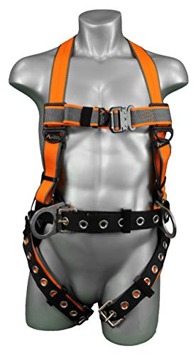 Malta Dynamics Warthog MAXX Side D-Ring Harness with Removable Belt (X-Large-XX-Large), OSHA/ANSI/CSA Compliant