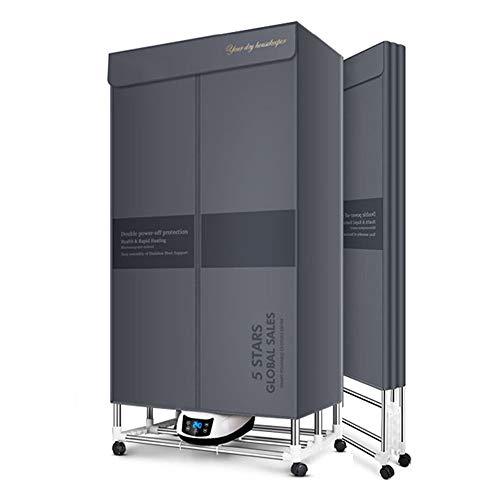QQNB Secadora de Ropa Plegable Gris,Eléctrico Secador con Rayos UV,Eliminar Las Bacterias,1500W...