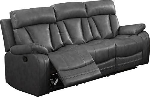 Best NHI Express Benjamin Motion Sofa (1 Pack), Gray