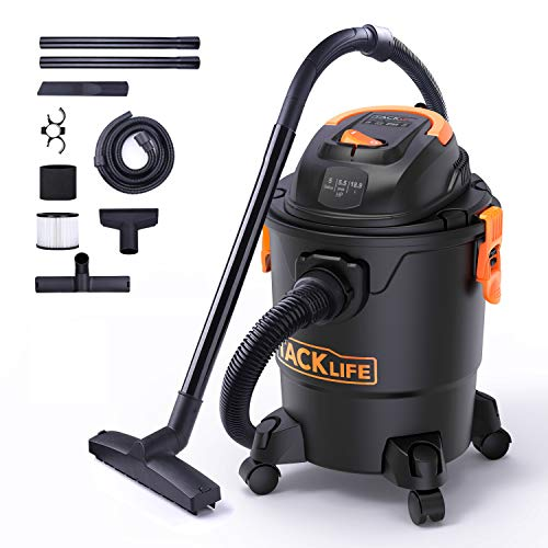 Why Choose TACKLIFE Wet/Dry Vacuum, 5 Gallon, 5.5 Peak HP with 17 FT Clean Range, 4-Layer Filtration...