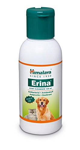 Himalaya Erina Coat Cleanser, herbal antibacterial shampoo for pets cats and dogs 120 ml