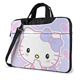 Kawaii Hello Kitty Laptop Bag Business Briefcase for Men Women, Shoulder Messenger Laptop Sleeve Case Carrying Bag- 15.6 Inch