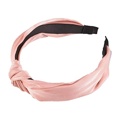 Tony plate Bandeau Épingle À Cheveux Bandeau Tissu Croix Noué Bandeau À Larges Bords Femelle Été Sauvage Chapeaux Femelle-Rose
