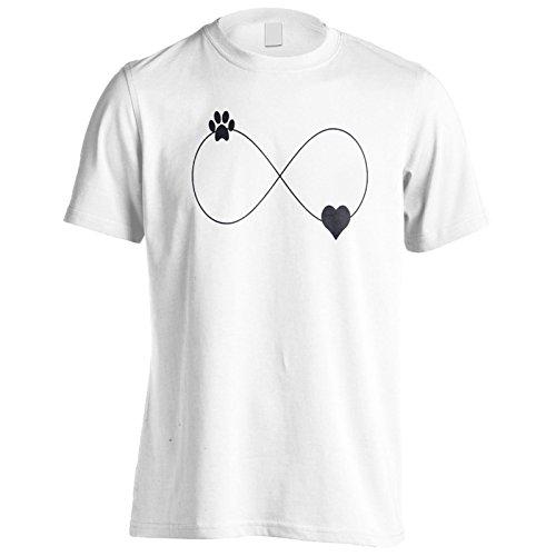 INNOGLEN Stampa Zampa e Infinito del Cuore Uomo T-Shirt u884m