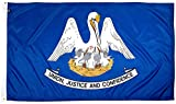 FlagSource Louisiana Nylon State Flag, Made in the USA, 3x5