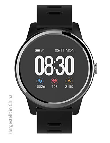 swisstone SW 660 ECG schwarz - Smart-Wearable mit Bluetooth Funktion und Herzfrequenzmessung sowie EKG-überwachung