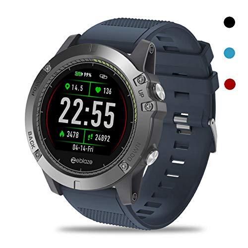 OOLIFENG Fitness Tracker, Activiteit Horloge Waterdicht IP67 met Hartslagmeter Smartwatch, Bel SMS SNS Kennisgeving