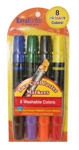 Royal Washable Primary Markers, Póster Accessories, Assorted Colors, (27173) by Royal Consumer