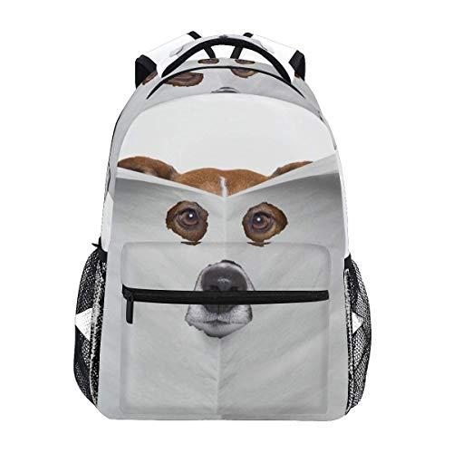 School Backpacks Spy Dog Reading Newspaper Student Backpack Big for Girls Kids Elementary School Shoulder Bag Bookbag