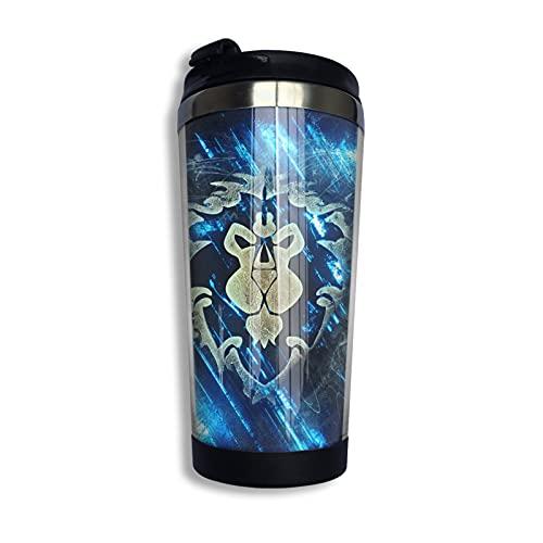 Game World Warcraft Taza de café reutilizable de acero inoxidable aislada taza de viaje para bebidas frías calientes 13 oz/400 ml