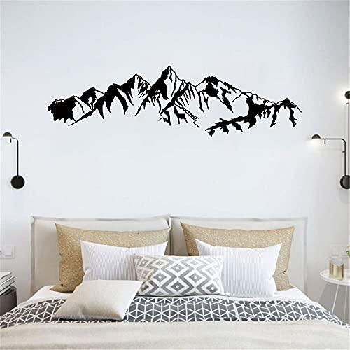 Pegatinas de pared de talla de montaña, calcomanías de arte decorativo de fondo, decoración de puertas, pegatinas de PVC, pegatinas de pared, murales A3 57x18cm