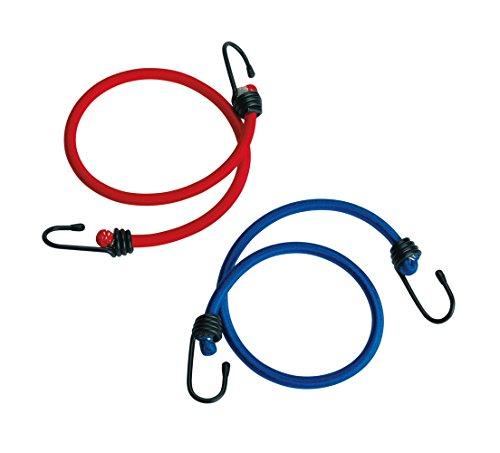 Ferrino 78343V Lot de 2 Cordes élastiques avec Crochets, Multicolore, 60/90 cm