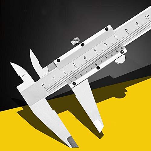 0-300 mm Messschieber,Kohlenstoffreicher Stahl Präzisions Messschieber mit hoher Messgenauigkeit zum Tiefenmessung Innenmessung Außenmessung (0-300mm)