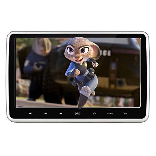 CAPTIANKN Lecteur vidéo de Voiture, 10,1 Pouces Bouton Tactile, Support HD 1080p, Suspendu Appui-tête MP5 Affichage