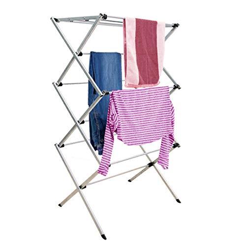 Denny International® 3 Tier Folding Clothes Laundry Washing Drying Horse...