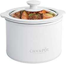 Crock Pot 1 to 1/2 Quart Round Manual Slow Cooker, White (SCR151 WG)