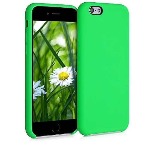 kwmobile Cover Compatibile con Apple iPhone 6 / 6S - Cover Custodia in Silicone TPU - Back Case Protezione Cellulare Verde Fluorescente