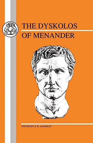 Menander: Dyskolos (Greek Texts)