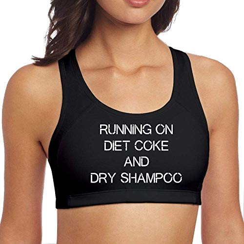 Running On Diet Coke and Dry Shampoo Womens Sports Bra Aerobics Top