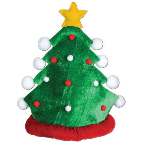 Beistle 1Pack Plush Christmas Tree Hat