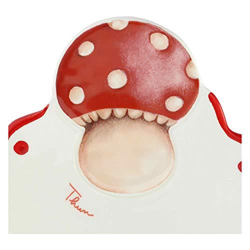 THUN ® - Piattino - Linea Frutti Rossi - Multiuso Piccolo - Ceramica - 31x20x2,5 cm