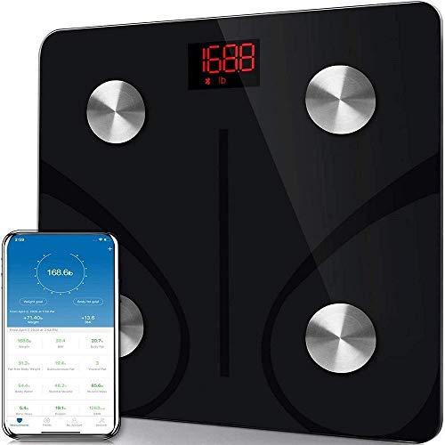 Báscula de grasa corporal Báscula Bluetooth Báscula de peso Báscula electrónica de medición del hogar Báscula inteligente de IMC Peso de grasa corporal Báscula de baño